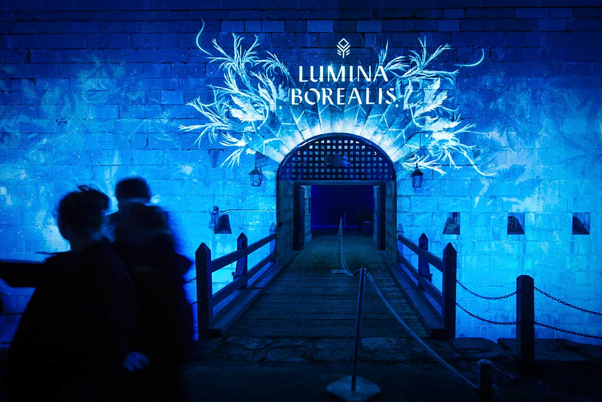 The illuminating entrance to Lumina Borealis