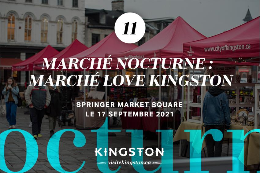 Marché nocturne: marché Love Kingston