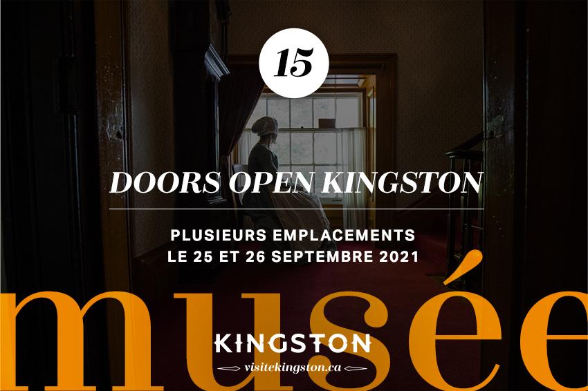 Portes ouvertes Kingston