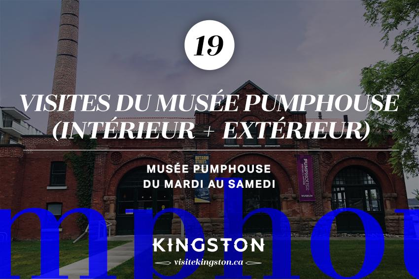 Visites du musée PumpHouse (intérieur + extérieur)