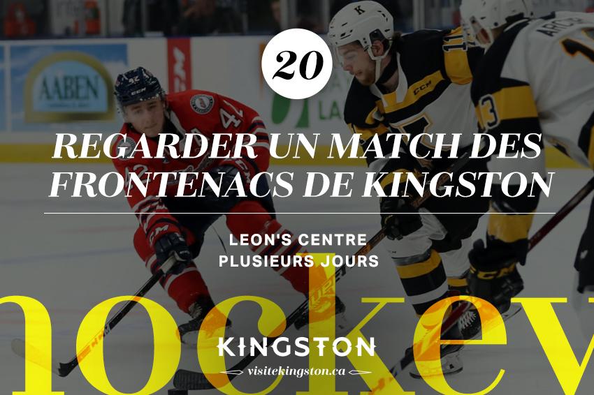 Regarder un match des Frontenacs de Kingston
